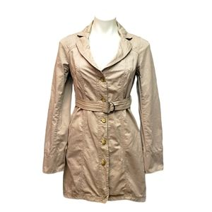 Free People Trench Coat Jacket Belted Size 6 Tan